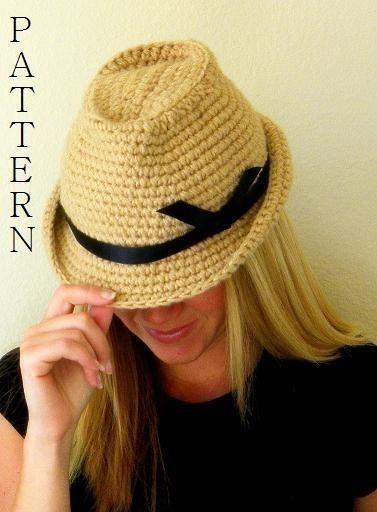 Knitting Pattern. USD4.99 @ Craftsy. Fedora Hat Crochet ...