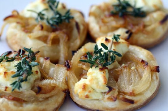Sweet Onion and Goat Cheese Tarts | making tuesday for  in-laws