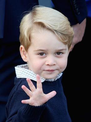 Prince George of Cambridge, who waves as he leaves                                                                                                                                                                                 More