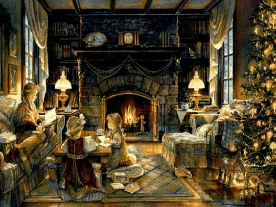 Images of Winter Fireplace Scenes - #SC