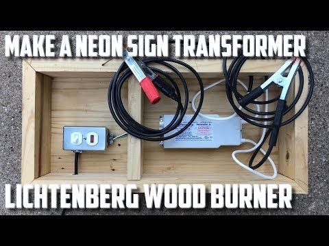 Youtube Burning Wood With Electricity Wood Burning Crafts Neon Sign Transformer