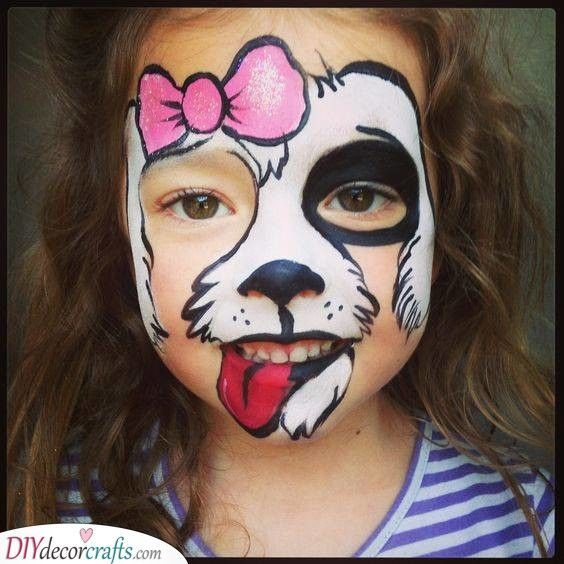 Halloween Face Paintings Witch Halloween Makeup In 2020 Face Painting Easy Dog Face Paints Kids Face Paint