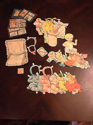 1955 Whitman Baby Grows Up Paper Dolls-Cut