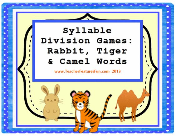 syllable games  vc  cv  v  cv and vc  v division