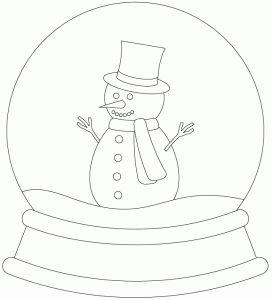 Snowman Snowglobe by Bird Staat ook nog 1 met boompjes en een huis en een lege schudbol