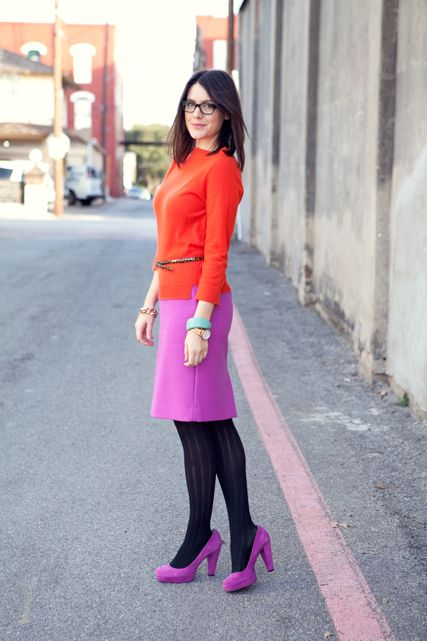 love the color blocking