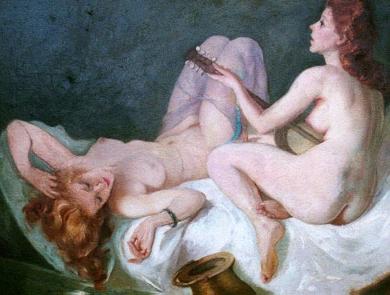 Maria Szantho - Two nudes on bed