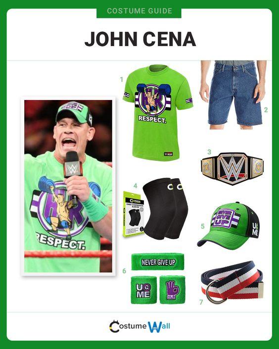 Dress Like John Cena John Cena Costume John Cena Wrestling Clothes