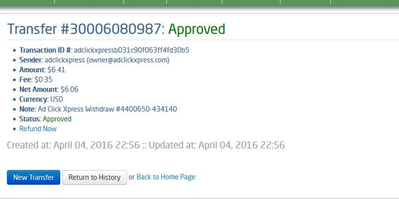 """I am getting paid daily at ACX and here is proof of my latest withdrawal. This is not a scam and I love making money online with Ad Click Xpress."" ""Here is my Withdrawal Proof from AdClickXpress. I get paid daily and I can withdraw daily. Online income is possible with ACX, who is definitely paying - no scam here."" ""I WORK FROM HOME less than 10 minutes and I manage to cover my LOW SALARY INCOME. http://www.adclickxpress.com/?r=Borislava&p=aa"