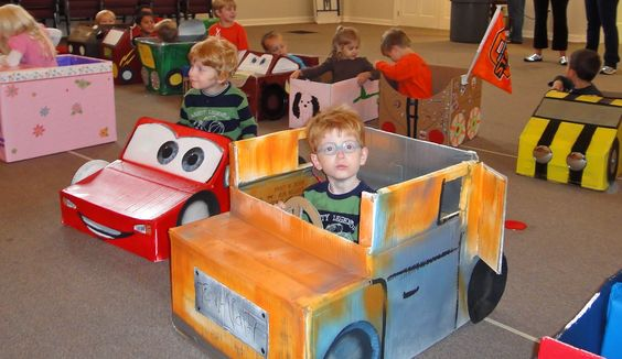 10 Ideas About Cardboard Box Cars On Pinterest: Kids #Cardboard #box #cars Drive In Movies At School
