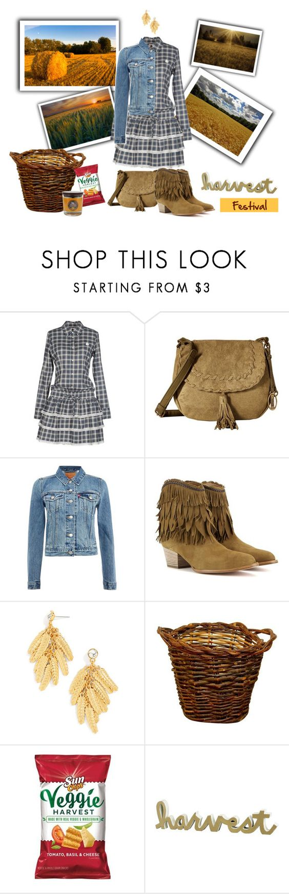 """Harvest Festival"" by romaosorno ❤ liked on Polyvore featuring Duck Farm, Carlos by Carlos Santana, Levi's, Aquazzura, BaubleBar, Dot & Bo and WoodWick"