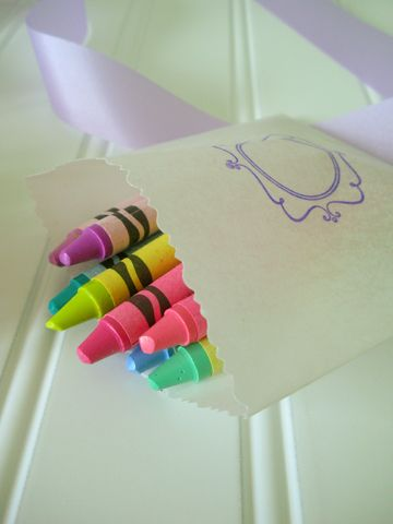 wedding crayons for kids