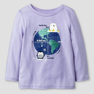 Baby Girls' T-Shirt Lavender Water - Cat & Jack™