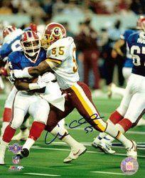 Andre Collins NFL Washington Redskins Hand Signed 16x20 Photograph