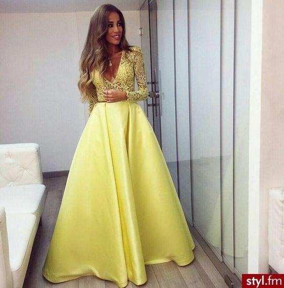 vestidos de fiesta amarillos - Buscar con Google