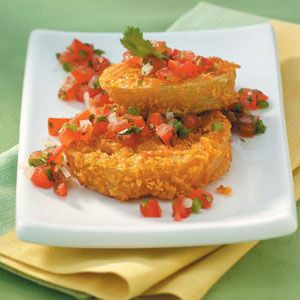 Fried Green Tomatoes Recipe: This recipe is: Contest Winning, Healthy, Diabetic Friendly