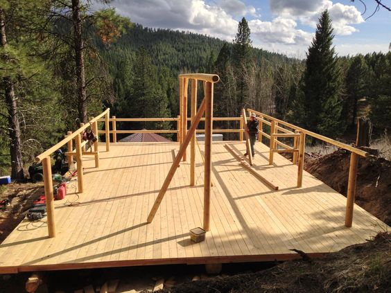 Building a tent platform pinterest for Tent platform construction