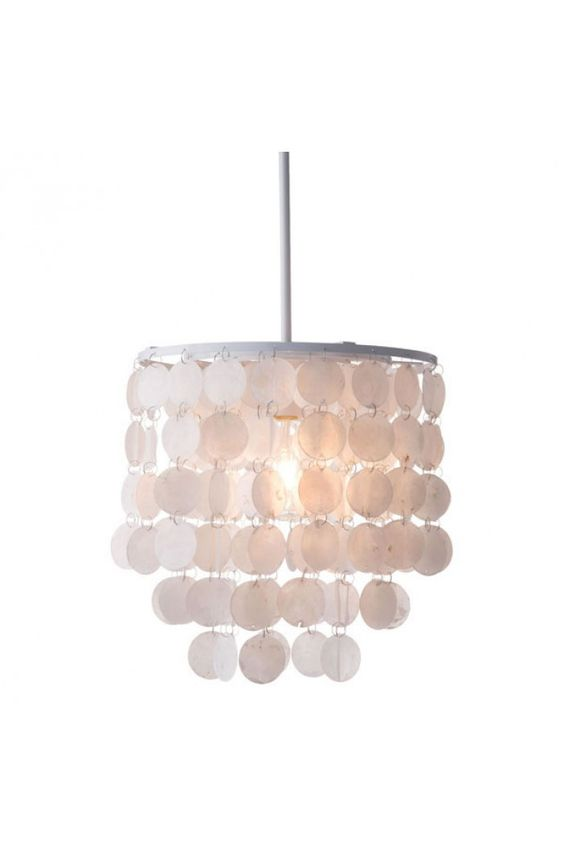 Shell Ceiling Lamp White - 56021 $160  Description :   This light is a hanging toast to geometric elegance. The Forecast Ceiling Lamp is a lovely pendant with sharp angles and soft warmth. Comes in chrome, rose or gold. Bulbs not included. Bulbs sold seperately, Max Watt 60 W, Size E26, Type A19. UL approved and listed.  Features:-  Bulb Type : Type A19  Color : White  Cord Length (in) : 118  Max Bulb Watts : 60W  Product Cover (Upholstery Material or Type of Metal) : Shell  Pr