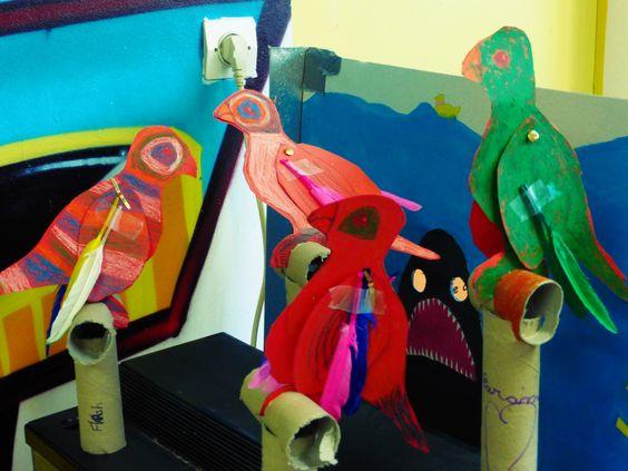 bricolage enfant perroquet sur perchoirs pirate pinterest centre et bricolage. Black Bedroom Furniture Sets. Home Design Ideas