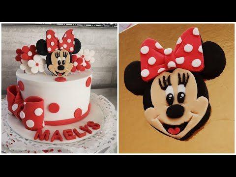 كيكة الميني ماوس وجه ميني بالتفصيل Youtube Desserts Cake Birthday Cake