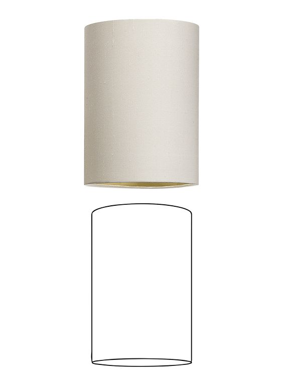 All measurements are nominal and for indicative purposes only. All shade sizes code ref 9 and below will be supplied with an E14/B22 fitting. Suitable as lampshade or pendant Supplied with E27 fitting Customers own material options available Code Base Top Height 4TD 100mm 100mm 200mm 5TD 125mm 125mm 205mm 6TD 150mm 150mm 255mm 8TD …