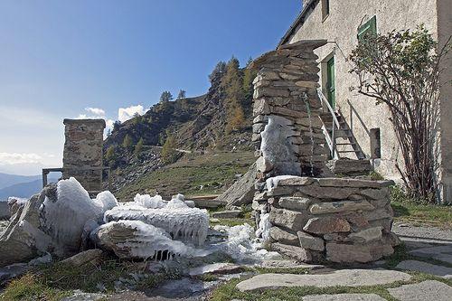 Fontana del rifugio Selleries - Alta Val Chisone - mt.2350