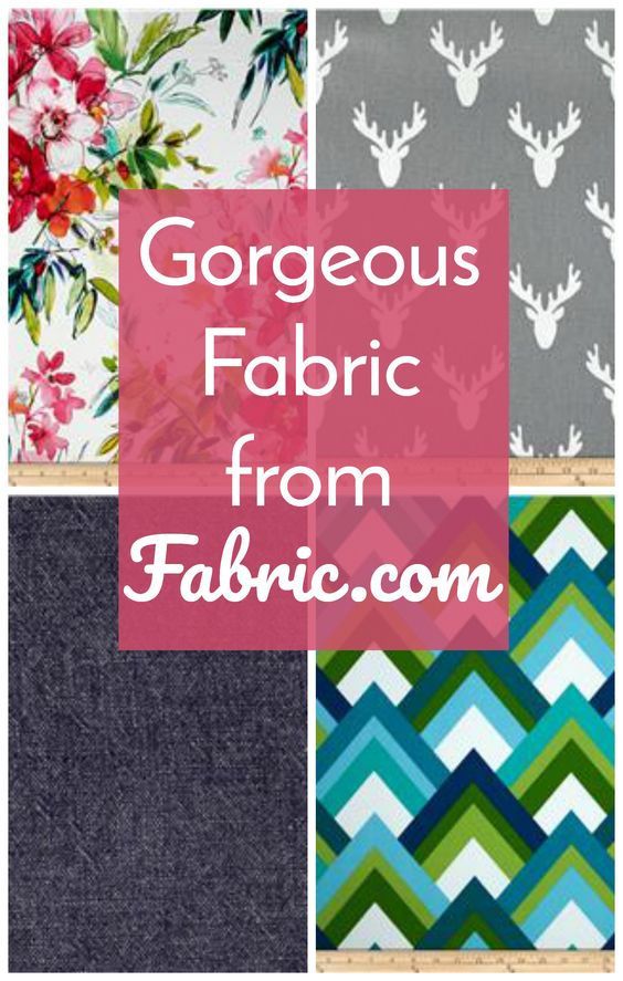 Affiliate Ad - Every crafter wants gorgeous fabric! Fabric.com is my only source for buying fabric online.