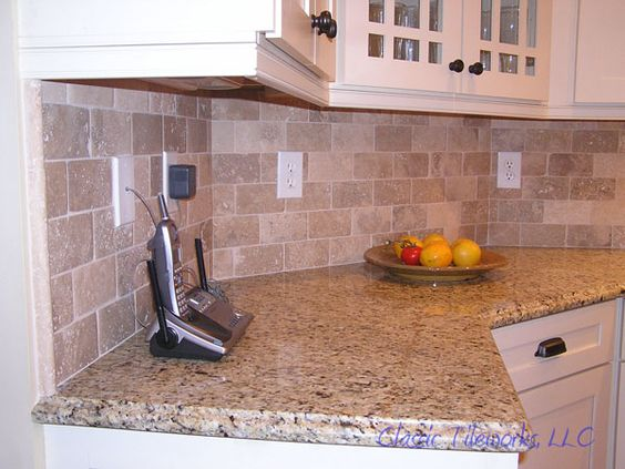 installing tumbled marble backsplash marble granite glass