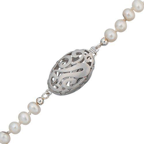 Damen-Kettenschließe mattiert Silber 1 Perle 13.1 mm Dreambase http://www.amazon.de/dp/B0097QZOV8/?m=A105NTY4TSU5OS
