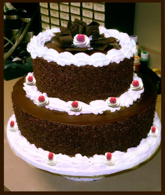 Send Yummy 2 Tier Wedding Black Forest Cake For Any