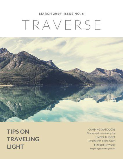 White Nature Travel Magazine Cover Templates By Canva Travel Magazine Cover Travel Magazines Interior Design Magazine Cover