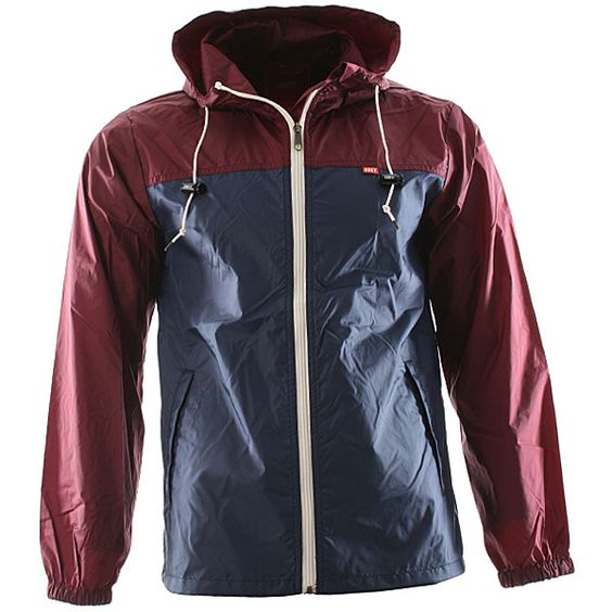 Obey Standard Issue Windbreaker Jacket - Burgundy/navy - L ...