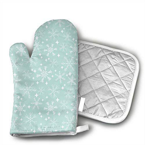 Mint Cute Winter Snowflake Oven Mitts Kitchen Gloves And Https Www Amazon Com Dp B07hq8lgdl Ref Cm Sw R Pi Dp U X Wancb9vv0f5v Kitchen Gloves