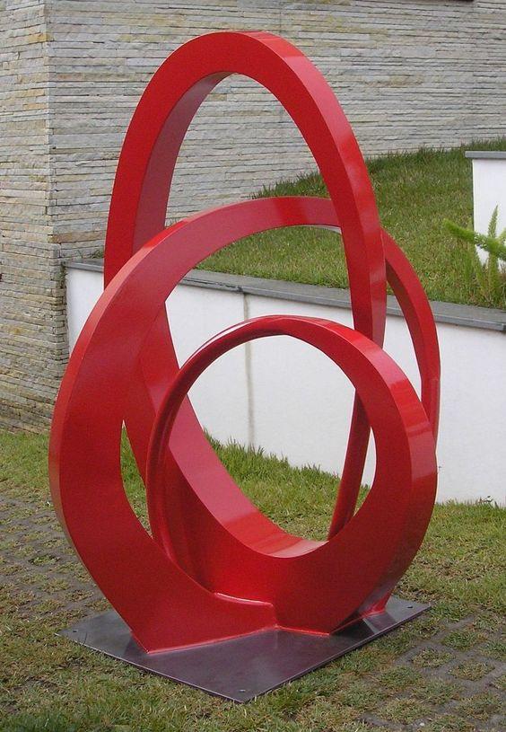 escultura de aço