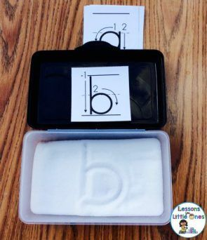 pencil box salt tray for alphabet letter writing practice - Fun Ways to Practice Letter Formation & Writing Letters of the Alphabet #alphabet #handwriting