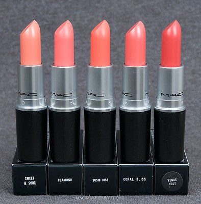 mac lipstick coral shades on We Heart It
