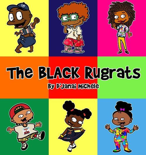 Black Rugrats Kids Canvas Prints