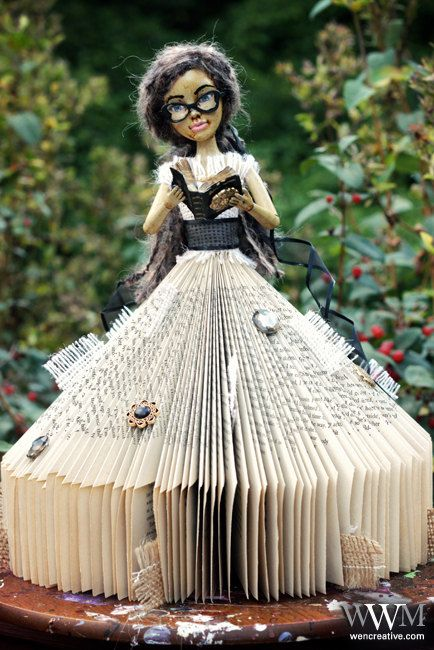Josephine: Book Doll. $150.00, via Etsy.: