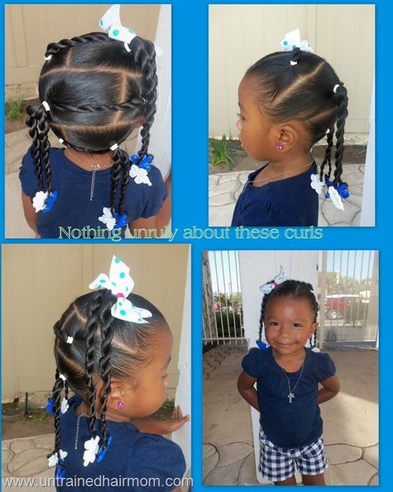Marvelous Ponytail Hairstyles Kid And Black On Pinterest Hairstyles For Women Draintrainus