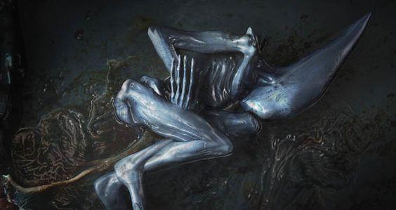 Prometheus deacon concept art alien stuff for Prometheus xenomorph mural