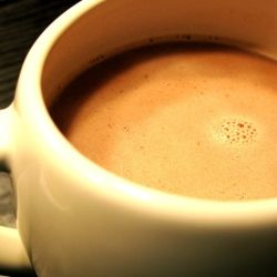 Peanut Butter Hot Chocolate - A smooth comforting hot chocolate with peanut butter Dan will love this