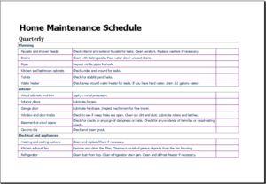 Office Maintenance Schedule Download At HttpWwwTemplateinnCom