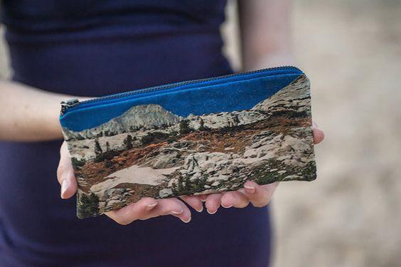 hint hint... Pencil Zipper Pouch California Nature Print Fabric by LeeCoren, ₪92.00