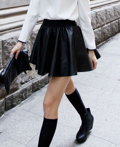 For a different approach to leather, try a skirt or pant.