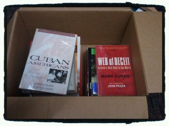 Mailing another box of books to Open Library to get digitized. Open Library is yours to browse, compare & build. http://openlibrary.org