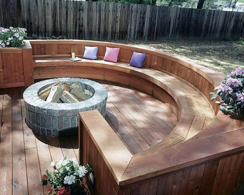 Top 50 Best Deck Fire Pit Ideas Wood Safe Designs Fire Pit Backyard Deck Fire Pit Backyard Fire