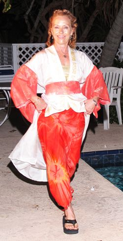 Koti Kimono at The Palms, St. Croix, USVI.  Koti is the Taino semi for the first footprint of the first man and the first woman...creativity!