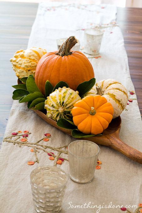 Mercury glass pumpkins and simple centerpieces on pinterest