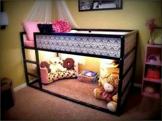 Pics Of Beautiful Kids Rooms From Pinterest Pinterest - Cabane sous lit