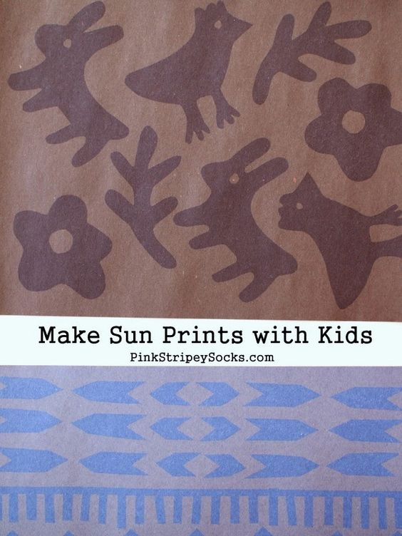 DIY Sun Prints with Construction Paper and Venilia